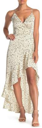 ONE ONE SIX High/Low Abstract Printed Dress