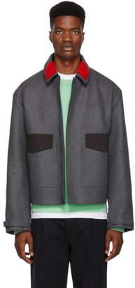 Oamc Grey Manifesto Jacket