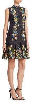 Erdem Nena Sleeveless Flounce Dress