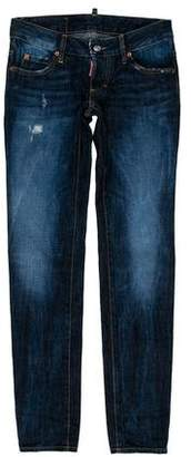DSQUARED2 Distressed Low-Rise Jeans w/ Tags