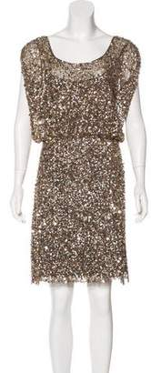 Aidan Mattox Embellished Mesh Dress