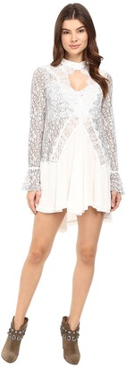 Free People - Tell Tale Lace Tunic Women's Blouse $128 thestylecure.com