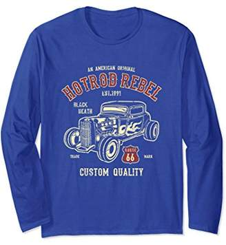 Vintage Classic Car Long Sleeve T-Shirt Hotrod Rebel