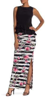 Nicole Miller Tidal Floral Print Skirt
