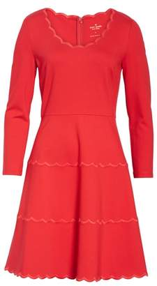 Kate Spade scallop ponte fit & flare dress