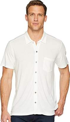 Agave Mens Fort Point Short Sleeve Full Button Polo