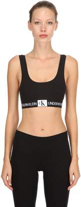 Calvin Klein Underwear Logo Cotton Jersey Sports Bra