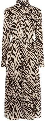 Karen Millen Zebra Print Shirt Dress