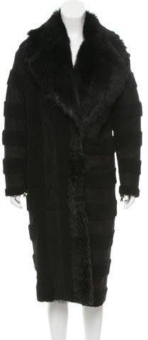 Fendi Shearling Long Coat