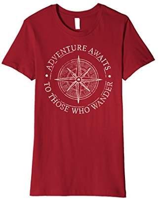 To Those Who Wander Adventure Awaits Graphic Premium T-Shirt