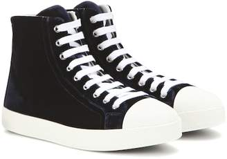 Prada Velvet high-top sneakers