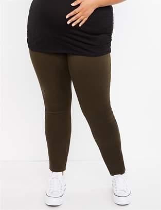 Motherhood Maternity Plus Size Secret Fit Belly Twill Skinny Leg Maternity Pants