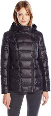Lucky Brand Women's Down Packable Puffer with Hood