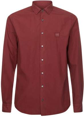 BOSS ORANGE Logo Poplin Shirt