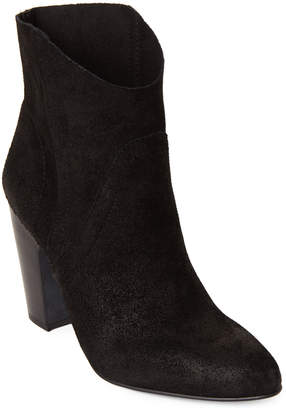 Vince Camuto Black Creestal Suede Ankle Booties