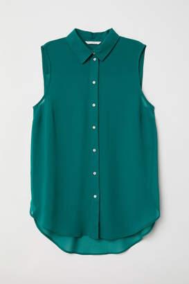 H&M Sleeveless Blouse - Green