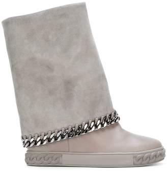 Casadei concealed platform chain boots
