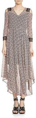 Maje Riano Cold-Shoulder Midi Dress $570 thestylecure.com