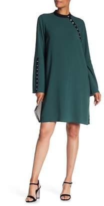 BCBGMAXAZRIA Woven Grommet Cocktail Dress