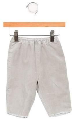 Baby CZ Girls' Velvet Straight-Leg Pants