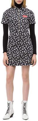 Calvin Klein Jeans Printed Half-Zip Dress