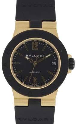 Bulgari Diagono AL32G 18K Yellow Gold & Rubber Automatic 32mm Unisex Watch