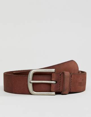 Hollister core leather belt in med brown