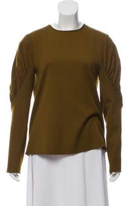 Tibi Long Sleeve Ruched Top