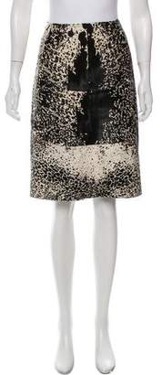 Alaia Pony Hair Patterned Skirt w/ Tags