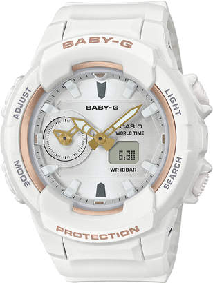 G-Shock Baby-g Women's Analog-Digital White Resin Strap Watch 42.9mm