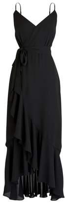 J.Crew Ruffle Faux Wrap Midi Dress