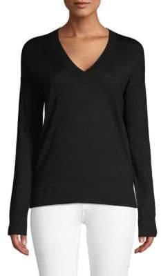 Zadig & Voltaire Graphic V-Neck Merino Wool Sweater