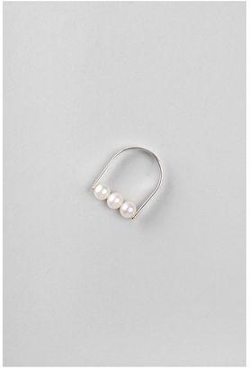 Saskia Diez Stripe Pearl Ring NO. 3