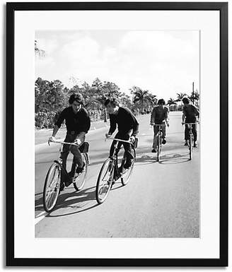 Sonic Editions Beatles On Bikes Framed Photo