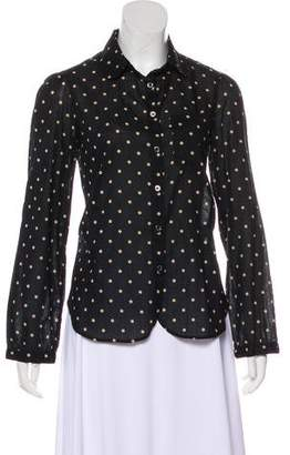 Etoile Isabel Marant Polka Dot Button-Up Top