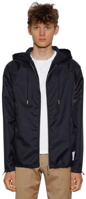 Thom Browne Hooded Zip-Up Ripstop Jersey Parka