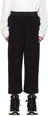 MM6 MAISON MARGIELA Black Reverse Cotton Fleece Lounge Pants