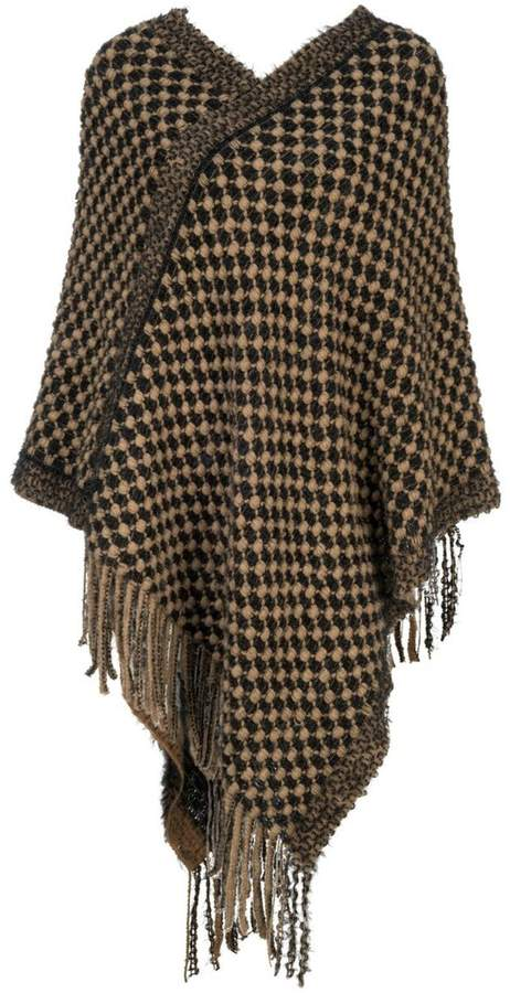 Howard's Checker Weave Poncho