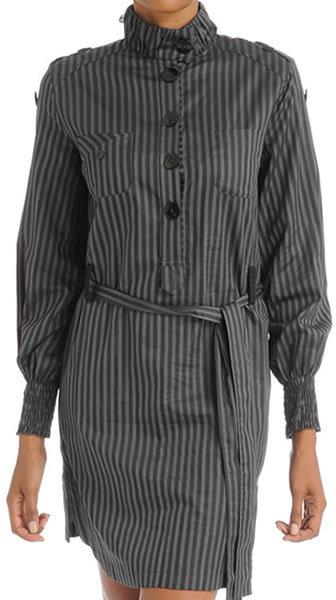 Alyce Shirt Dress - Ebony Stripe