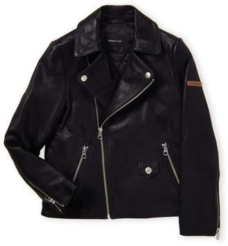 Mackage Mini (Boys 8-20) Black Leather Jacket