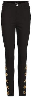 Anthony Vaccarello Embellished skinny jeans
