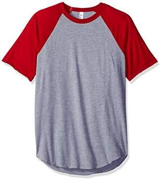 American Apparel Men's 50/50 Raglan T-Shirt
