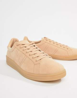 Fred Perry B721 microfibre sneakers in dusty pink