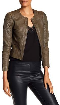 Muu Baa Muubaa Zomsa Quilted Leather Biker Jacket