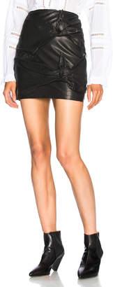 Etoile Isabel Marant Gritanny Washed Leather Knotted Skirt
