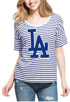 '47 Brand Women's Los Angeles Dodgers Coed Stripe T-Shirt $45 thestylecure.com