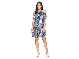 MICHAEL Michael Kors Patch Flower Cold Shoulder Dress