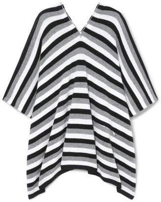 Sonia Rykiel Zip-embellished Striped Cashmere Poncho