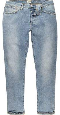 River Island Mens Light blue wash Jimmy slim tapered jeans