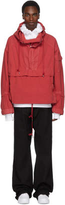 Juun.J Red Be Curious Not Judgemental Anorak Jacket
